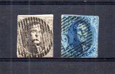 Léopold Ier - numéros 10 et 11 - oblitérés - émis en 1861.