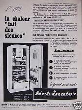 PUBLICITÉ 1955 KELVINATOR REFRIGERATEUR GOVERNOR - ADVERTISING
