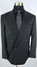 Pierre Balmain Charcoal Gray Blazer Sport Coat Dbl Breast Peak lapel Wool Sz 42R