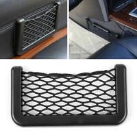 1Pcs Car Side Door Storage Pocket Phone Luggage Net Bag 15*8cm Convenient