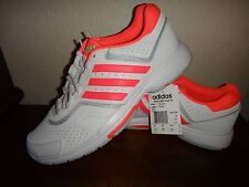 ADIDAS~Womens Athletic Tennis Sport Shoes Sneakers~White Pink Silver~US Sz 11.5