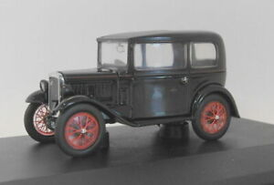 Oxford 1/43 Scale diecast - ASS005 Austin Seven RN Saloon Black / Red
