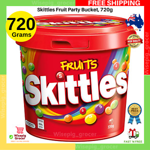 2x Skittles Fruit Party Bucket, 720g | NEW | FAST FREE SHIPPING AU