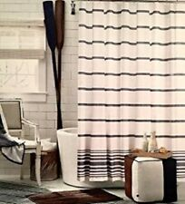"TOMMY HILFIGER Shower Curtain BAJA SIGNATURE STRIPE 72"" X 72"", NAVY WHITE, NEW"