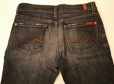 7 For All Mankind Women's Jeans Size 28 Boot Cut Dark Wash 30x32.  J59a