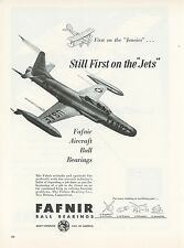 1953 Fafner Ball Bearings Ad US Air Force Jet Fighter USAF Mid Century Jet Age