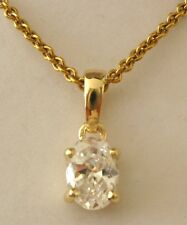 GENUINE  9ct SOLID  Gold  APRIL BIRTHSTONE  CZ  CUBIC ZIRCONIA  Pendant