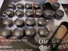 16 Stück Audi Original Radschraubenkappen + 4 Kappen Felgenschloss + Abzieher