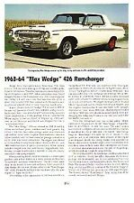 1963-1964 Max Wedge 426 Ramcharger Article - Must See !! - Hemi Engine