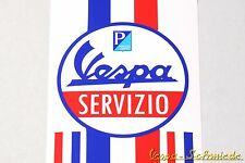 "Banner Beinschild ""Vespa Servizio"" - V50 PK PX GL GT TS Service Aufkleber Dekor"