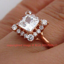 Genuine Solid 9ct Rose Gold Engagement Wedding Esteem Rings Simulated Diamonds