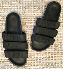 RICK OWENS Black Granola Suede Flat Birkenstock Slides Sandals 7.5 $1210