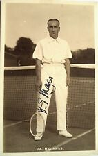 HENRY MAYES 1913 CANADA'S FIRST DAVIS CUP TEAM VINTAGE SIGNED TENNIS POSTCARD