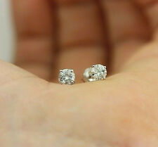 Brilliant White Tiny Small stud Created Diamond Dubai Earrings FREE POST