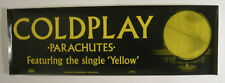 COLDPLAY PARACHUTES FEATURING THE SINGLE YELLOW PROMO POSTER 2001
