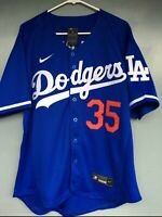 Men's Los Angeles Dodgers #35 Cody Bellinger Blue 2020 Jersey Flex base