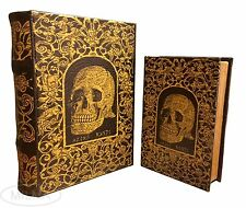 Celtic Skull Book Box Set of 2 Handmade Decorative Book Nestling Books