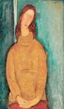 "MODIGLIANI AMEDEO - JEANNE HEBUTERNE, 1919 - ART PRINT POSTER 14"" x 11"" (3221)"