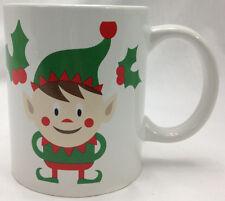 Christmas Mug Coffee Tea Cup Just for You Megatoys Holly Elf Santa's Workshop