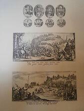 Planche gravure Jacques Callot La passion et la vie de la Vierge 8 Piéces 1632