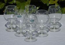 Service de de 6 verres à cognac en cristal de Durand.  Haut. 12,8 cm