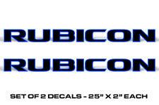 """25 """" x 2 """" Universale Rubicon Decalcomanie Adesivo per Jeep Wrangler Blu"""