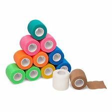 """12-Pack, 2"""" x 5 Yards, Self-Adherent Cohesive Tape, Strong Sports Tape for..."""