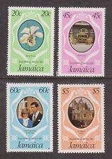 1981 Royal Wedding Charles & Diana MNH Stamp Set Jamaica SG 516-519