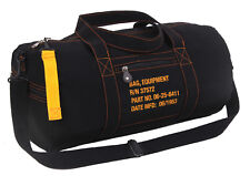 military style canvas bag vintage equipment pack black rothco 22334