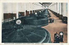 KEOKUK IA – Mississippi River Power Plant Generator Room