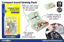 18 Pce Compact Travel Sewing Pack Sewing Kit With Hard Plastic Storage Case SYD
