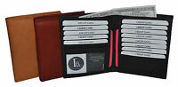 Men's Genuine Leather Bifold Hipster Wallet w/2IDs by Leatherboss