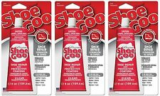 (3)Shoe Goo 110011 Clear Adhesive Glue 3.7oz For Leather Rubber Vinyl Canvas *