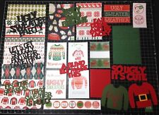 Ugly Christmas Sweater Scrapbook kit!! Project Life Paper die cuts
