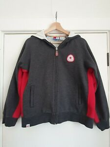 Winter Olympics 2006 Canadian Olympic Team Grey Hooded Zip Jumper Jacket Size M