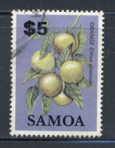 SAMOA 618 SG665 Used 1984 $5 Oranges Defin Cat$6