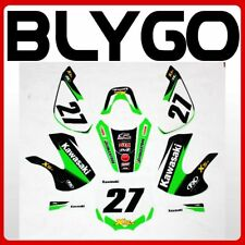 27 Classic Decals Graphic Stickers Kit KLX 110 Style Fairing PIT PRO Dirt Bike