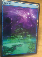 1x Island #13 Extended Textless Full Art Custom Altered Basic Land MTG