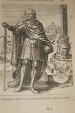 GRAVURE BELGIQUE CAROLUS CALUUS LOTHAR BRABANT VEEN COLLAERT 1623 OLD PRINT R976