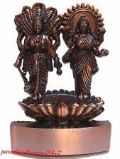 VISHNU LAXMI NARAYAN JAGANNATH BRASS PLATED STATUE HINDU GOD METAL MINI STATUE