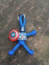 Captain America PARACORD BUDDY keyring - HAND MADE IN UK