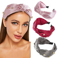 Women Crystal Headband Knot Hairbands Turban Girls Hair Hoops Hair Accessories