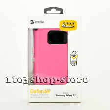 Otterbox Defender Samsung Galaxy S7 Hard Case w/Holster Belt Clip Pink/White NEW