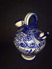 Blue And White Water Pitcher Round Handle Top Hand Painted