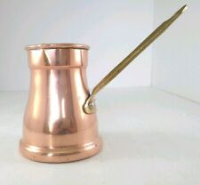 """Copral Portugal Copper Creamer Pot with Handle Ladle Utensil 4.25"""" High"""