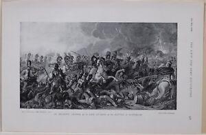 1896 Guerre des Boers Era Decisive Charge Life Gardes À Bataille De Waterloo