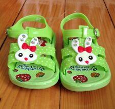 Babyschuhe Mädchen Schuhe Sandalen aus federleichter Kunststoff Grün Gr. 18 NEU