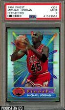 "1994 Finest Refractor #331 Michael Jordan Bulls HOF PSA 9 MINT "" NBA Legend """