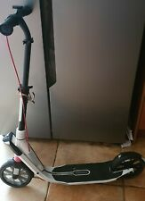 Oxelo Town 9 White From Decathlon with rear brake and digital clock