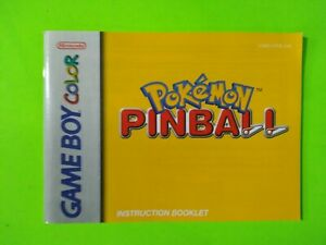 Pokemon Pinball Instructions Only GBC - Game Boy Color